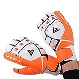 Lenwaveサッカー手袋ゴールキーパーグローブジュニアと子供用保護手袋耐熱耐磨耗