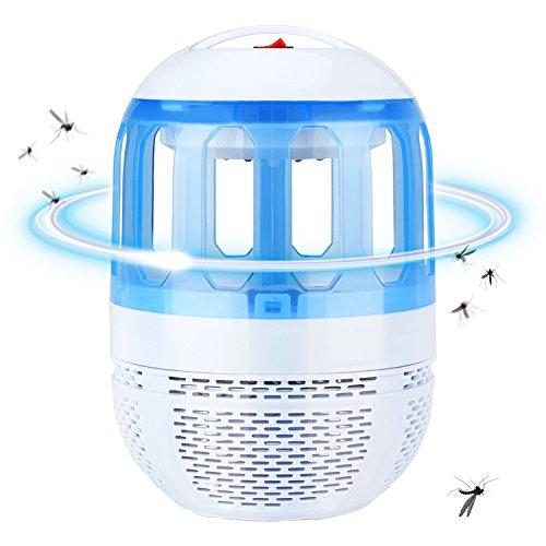 AKARUI 蚊取り器 捕虫器 UV光源吸引式 静音 360度広範囲吸引 寝室 リビング 居間 台所 日本語説明書付き