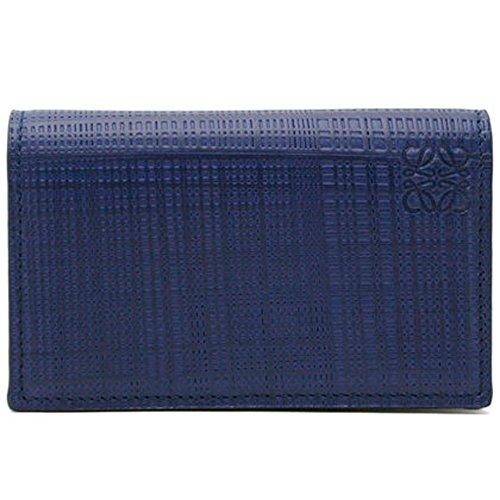 ロエベ LOEWE 名刺入れ LINEN BUSINESS CARD HOLDER レディース メンズ カードケース 名刺入れ 101.88.M97 5110 NAVY BLUE ネイビーブルー[並行輸入品]
