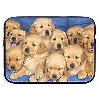 犬遊ぶ犬のフリー パソコンバッグ ラップトップ収納カバン インナーバッグ PCケース ノートパソコンケース 360°保護ケース 13インチ 衝撃吸収