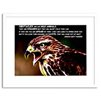 Quote Marden Obstacle Wild Animal Motivation Framed Wall Art Print