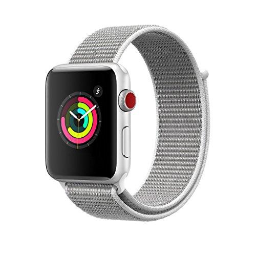 AIGENIU コンパチブル Apple Watch バンド、ナイロンスポーツループバンド Apple Watch Series4/3/2/1に対応 (38mm/40mm, グレー)