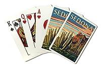 セドナ、アリゾナ州–Organ Pipe Cactus ( Playingカードデッキ–52カードPokerサイズwithジョーカー)
