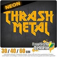 KIWISTAR - Thrash Metal Hardcore Heavy Death Guitar 15色 - ネオン+クロム! ステッカービニールオートバイ