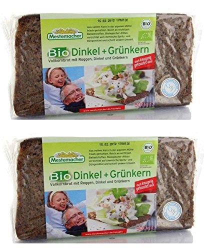 メステマッハー オーガニック ディンケル&グリューンカン(ライ麦&スペルト小麦ブレッド) (2個)