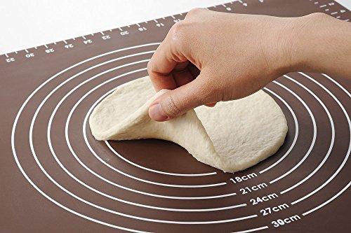 HANBUN 製菓マット 食品級シリコーン 樹脂 マット 目盛り付きマット パンマット 調理 製菓道具 クッキングマット シリコンマット ECO 梱包