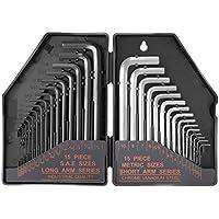 タックライフ 六角棒レンチセット HHW1A ネジ締め&緩め 黒 奥行19.8×高さ13.8×幅3.8cm 30個入22個セット