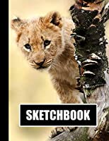"""Sketchbook: Lion Cub Cover Design 