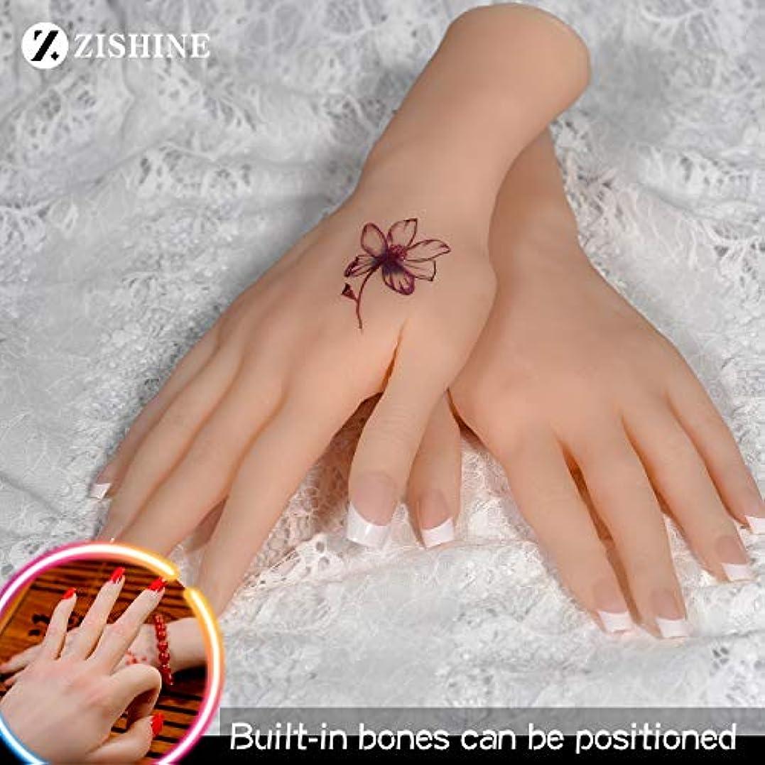 ビンできるに変わるシリコーンのLifeSize女性偽の手のモデルは、内蔵の骨マネキン医療絵画指導,Softbones