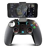 IPEGA PG-9099 bluetoothコントローラー ゲームパッド PCゲーム コントローラー pubg mobile/荒野行動対応 Bluetooth/有線接続 Android/Windows PC/ PS3/ Samsung Gear VRなど対応 振動機能 高耐久ボタン USBケーブル同梱 日本語説明書 huajuan (BK)