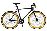 ANIMATO(アニマート) ピストバイク 700C PISTO マットブラック×ゴールド シングルスピード