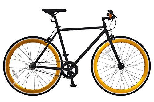 ANIMATO(アニマート) ピストバイク 700C PISTO マットブラック×ゴールド シングルスピード A-12