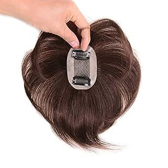 AISIHAIRウィッグ ストレートヘアー 通気 ウイッグ かつら 総手植え人毛100% 脱毛隠しヘアーピース つむじ人工スキン …
