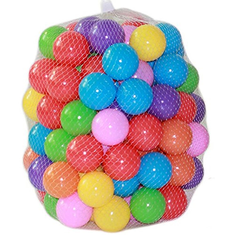 新しい100個カラフルなボール楽しいボールソフトプラスチック海洋ボールベビーキッドおもちゃSwim Pit Toy