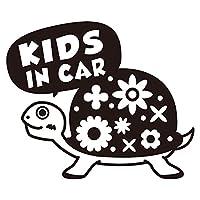 imoninn KIDS in car ステッカー 【シンプル版】 No.53 カメさん (黒色)
