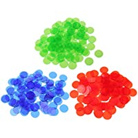 SunniMix 約300個 半透明 ビンゴチップ ポーカーチップ ビンゴゲーム アクセサリー