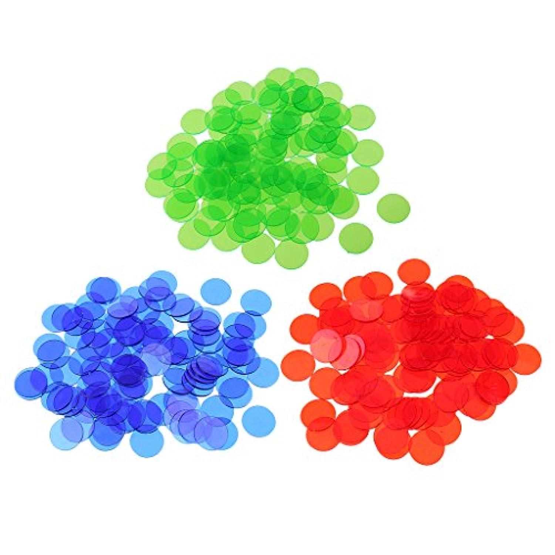 Kesoto 約300個 プラスチック 半透明デザイン ビンゴチップ