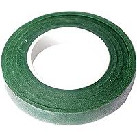 Cratone 花束テープ 誕生日パーティー飾り 工芸品DIY 誕生日ギフト包装 シンプル 爽やか 27.5m×1.2cm(1個セット) (ダークグリーン)