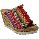 Minnetonka Womens York Open Toe Casual Wedged Sandals