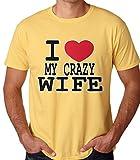 I Love My Crazy Wifeメンズ半袖TshirtからAllure & Grace カラー: イエロー (¥ 16,386)