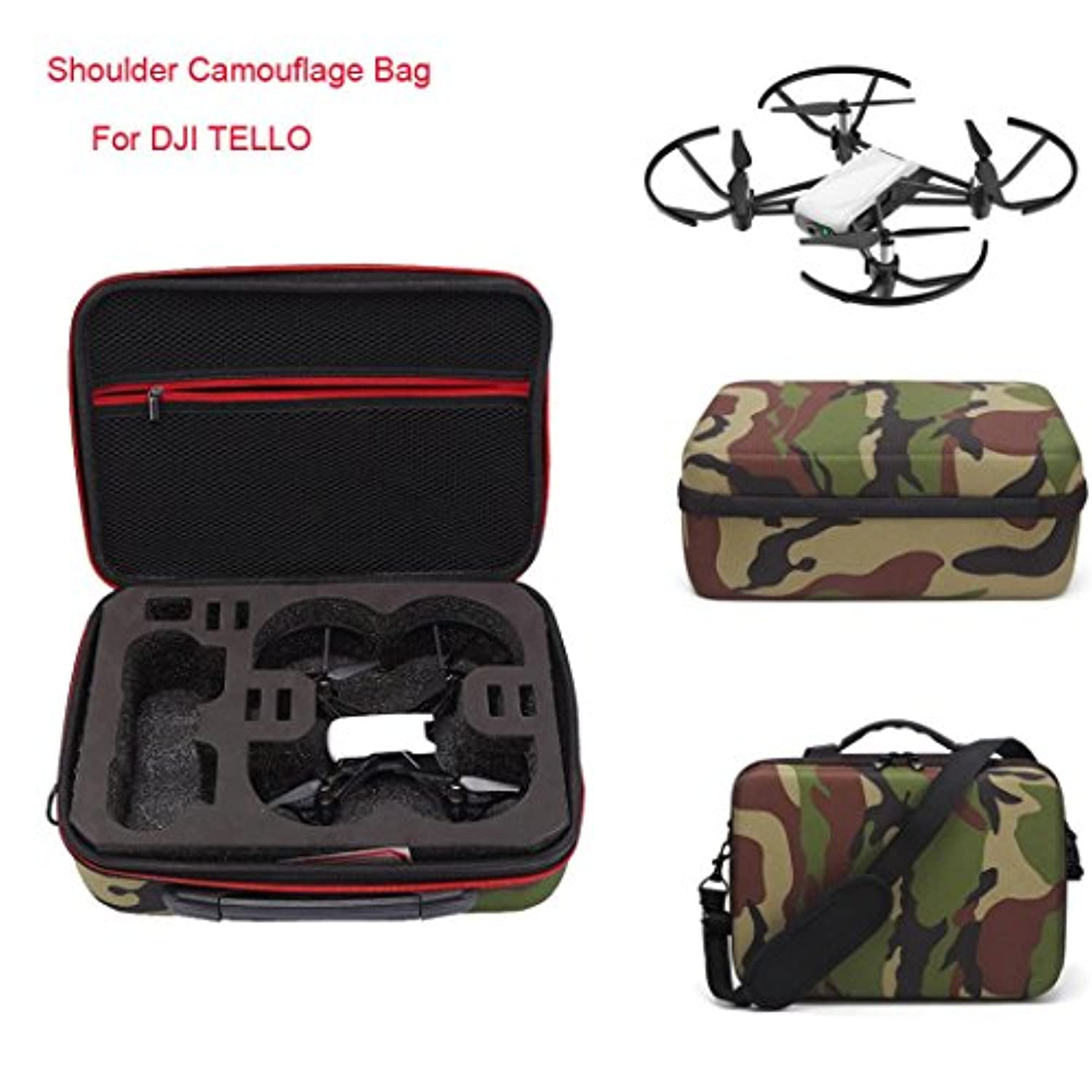 (Camouflage) - Inverlee Shoulder Camouflage Bag Case Protector Internal Waterproof For DJI TELLO Drone (Camouflage)