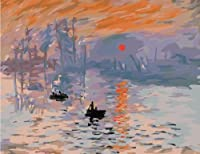 Diy oil painting, paint by number kit- worldwide famous oil painting Impression Sunrise by Monet 16*20 inch. by Holdfound [並行輸入品]