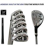 AGXGOLF Ladies Magnum NXT左または右レディースFlexアイアンセットW /ハイブリッドユーティリティLong Iron + 5,6,7,8 & 9 + PW :小柄レギュラー、高速配送Built In USA 。