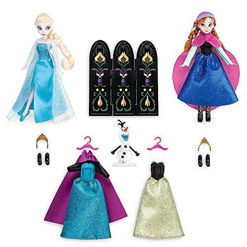 アナと雪の女王 着せ替え人形3体 ワードローブフィギュアセッ...
