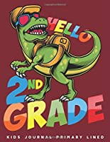 Kids Journal Primary Lined: Dinosaur 2nd Grade Creative Writing Journal