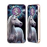 オフィシャル Anne Stokes エンライトメント ミシカル・クリーチャーズ ゴールド アルミニウムバンパー スライダーケース Apple iPhone 5 / 5s / SE