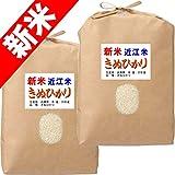 30年産 滋賀県産 近江米 キヌヒカリ 10kg (5kg×2袋) 近江八幡指定 (白米精米 約4.5kg×2袋でお届け)