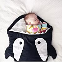 ベビー用品 赤ちゃん寝袋 サメ寝袋 ベビー 子供用 ベビー布団 おくるみ 柔らかい (ブラック)