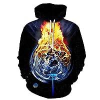 BMY パーカー3Dデジタルプリントスカル秋冬男性女性フード付きセーター