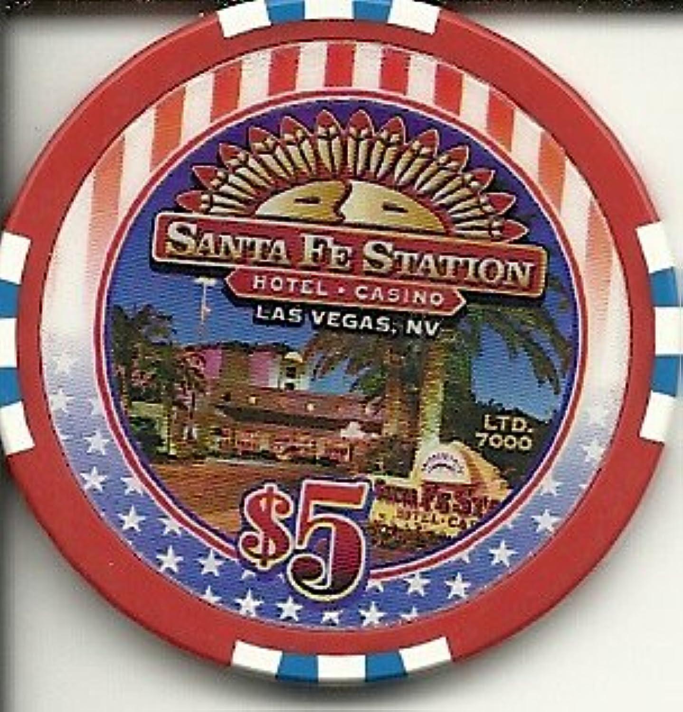 $ 5 Santa Fe America The Beautifulラスベガスカジノチップ