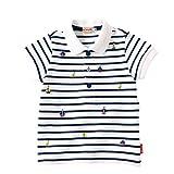 ミキハウス(mikihouse) マリン風ボーダー半袖ポロシャツ (12-5502-979) 110cm 紺×白(51)