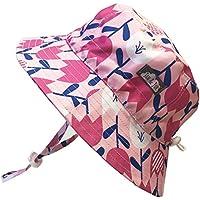 赤ちゃん幼児用子供用50?+ UPFバケットSun Hat with Chinストラップ、サイズ調節可能Aqua Dry カラー: ピンク