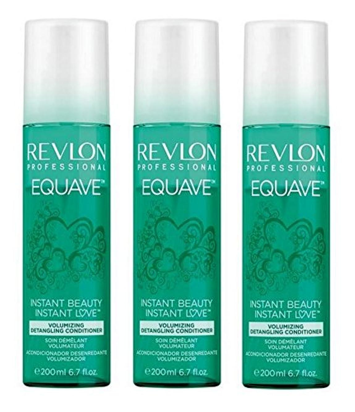 角度用量引き受けるRevlon Equave Volumizingデタングルコンディショナー3 x 200 ml