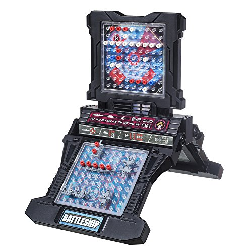 BATTLESHIP Electronic with Carry Case - Naval Combat Game - 1 to 2 Players - Strategy Board Games - Ages 8+
