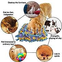 犬 訓練毛布 鼻づまり 遊び 嗅覚訓練 ストレス解消 餌マット 分離不安 犬おもちゃ ペット用品 嗅覚活用 集中力向上(青+紫+黄)