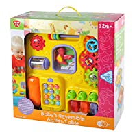 Deluxe Baby 2 in 1 reversible activity table. by Play & Grow