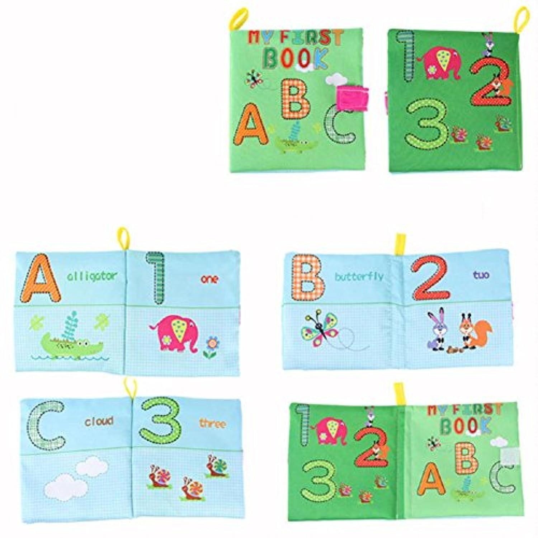 Jesse文字と番号ファッションベビーソフトプリントファブリック布Book Set for Kindergarten Preschool Learningアクティビティ知的開発