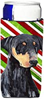 Caroline 's Treasures sc9337-parent Doberman Candy Cane HolidayクリスマスUltra Beverage Insulators forスリム缶sc9337muk、、マルチカラー Slim SC9337MUK