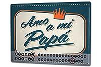 カレンダー Perpetual Calendar Fun rative Papa Tin Metal Magnetic