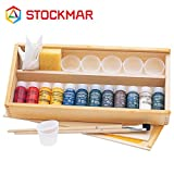 Stockmar(シュトックマー社) 透明水彩絵の具 お絵描きセット 12色 木箱【ST43046】