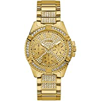 Guess Lady Frontier Crystal Set Watch Model W1156L2 Stainless Steel 091661488092 Gold