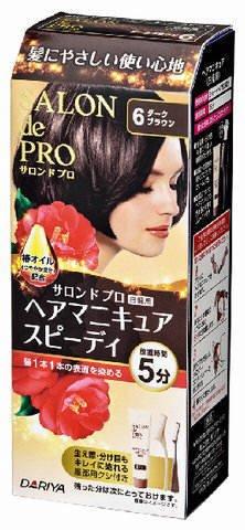 サロンドプロ ヘアマニキュア・スピーディ(白髪用)6<ダークブラウン> × 3個セット
