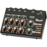 TECH 8ch マイクロミキサー 1.2mケーブル X 2付属 TM-8
