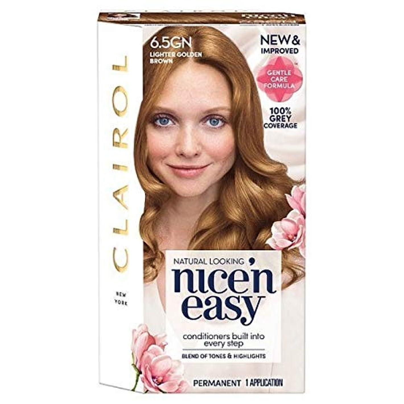 持続的鋸歯状寄り添う[Nice'n Easy] Nice'N簡単6.5Gn軽くキツネ色 - Nice'n Easy 6.5Gn Lighter Golden Brown [並行輸入品]