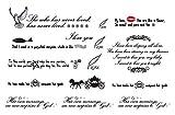 タトゥーシール 英字メッセージ ワンポイント 英語のメッセージタトゥー
