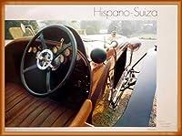 ポスター ジャン・ポール・キャロン Hispano Suiza 額装品 ウッドベーシックフレーム(オレンジ)